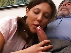 Anal Blowjob Brunette Cumshot Old and Young