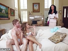 Big Boobs MILF Old and Young Teen Threesome
