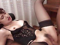 Brunette Group Sex MILF Old and Young Double Penetration