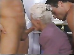 Double Penetration Granny Mature Old and Young Threesome