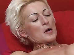 Blonde Cumshot Mature MILF Old and Young