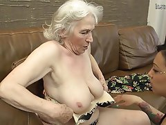 Lesbian Granny Mature Hairy Old and Young